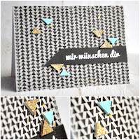 Kartenwind : Embossed Foampads #kartenwind #embossing #cardmaking #papercrafts #karte #card #danipeuss #triangle