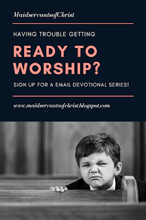 Sign up here for a FREE Email Devotional Series to help you center your mind on God before the chaos of Sunday morning starts!
