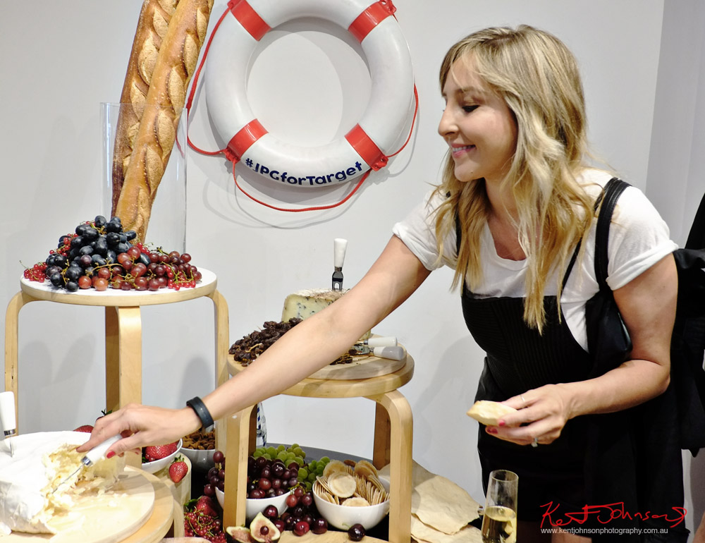 French cheese and Champagne for the launch of #JPGforTarget, Unique Event Photography Sydney.