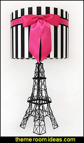 Eiffel Tower Table Lamp with Bowknot Shade (Deep Pink)  paris bedroom - Paris themed bedroom ideas - Paris style decorating ideas - Paris themed bedding - Paris style Pink Poodles bedroom decorating -  French theme Paris apartment furniture - Paris bedroom decor - decor Paris style French Poodles - room decor french poodle - Paris Postcard bedding - Paris themed teenage bedroom ideas - Paris eiffel tower decor - decorating ideas for paris themed bedrooms - Paris Inspired Nursery - Paris bedrooms - Poodles in Paris