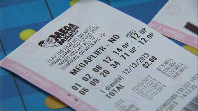 Mega Millions Lottery ticket photo