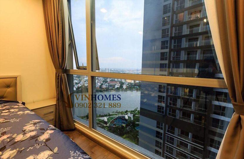 Park 4 Vinhomes cho thuê căn hộ 4 phòng ngủ view trực diện công viên | cửa kính phòng ngủ