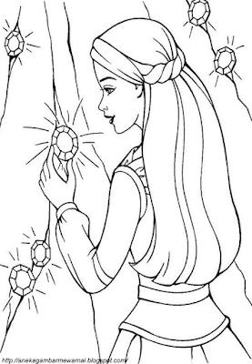 Gambar Mewarnai Barbie (2)