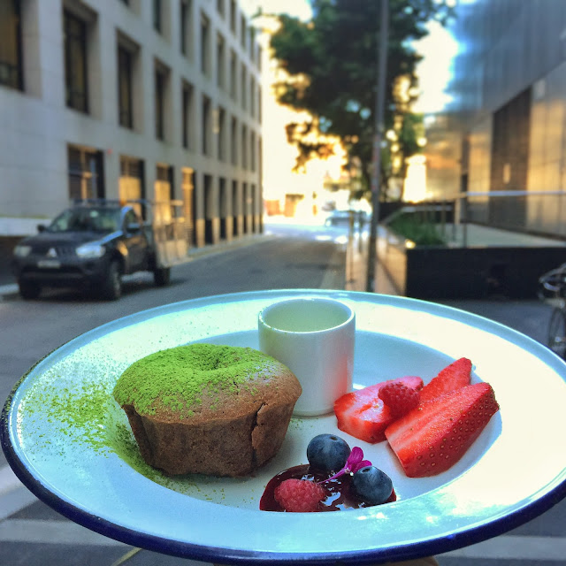 Sydney Cafe Cre Asion - Green Tea Chocolate Fondant