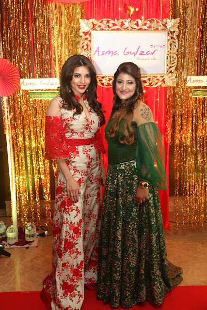 Bollywood Actor Shama Sikander with Designer Asma Gulzar