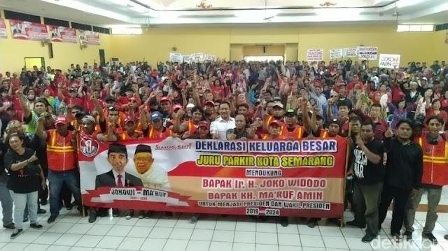 Disaksikan Wali Kota, Ratusan Jukir Semarang Ikrar Dukung Jokowi