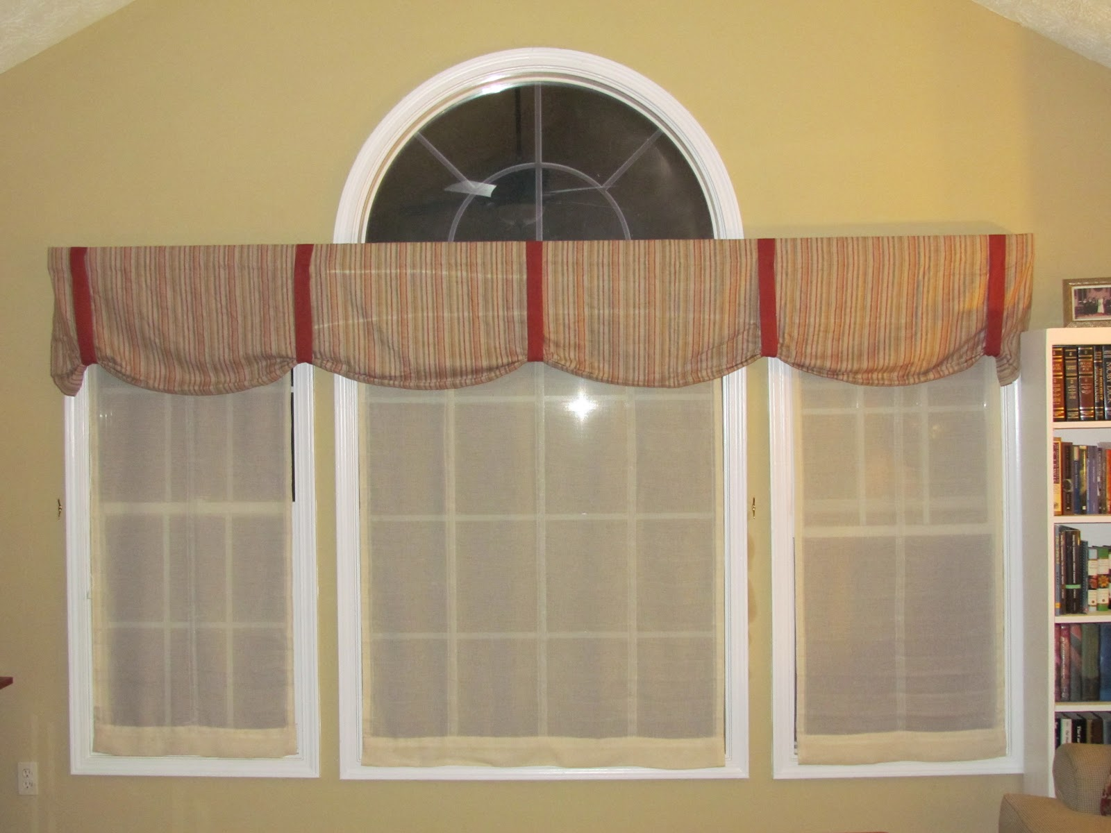 Matching Window Valance For Sliding Door And Kitchen Window