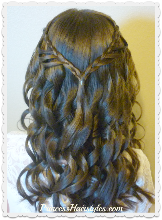 8th Grade Dance Hairstyle Tutorial and Dress! Princess Hairstyles ...