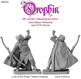 MZ633 Orophin of Lorien metal figure from Mithril Miniatures.