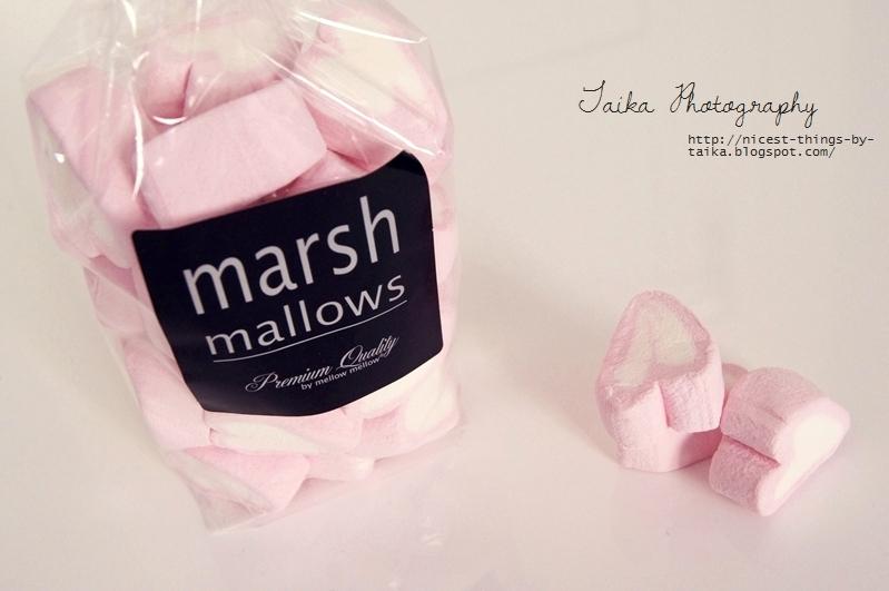 Marshmallow Herzen Rosa