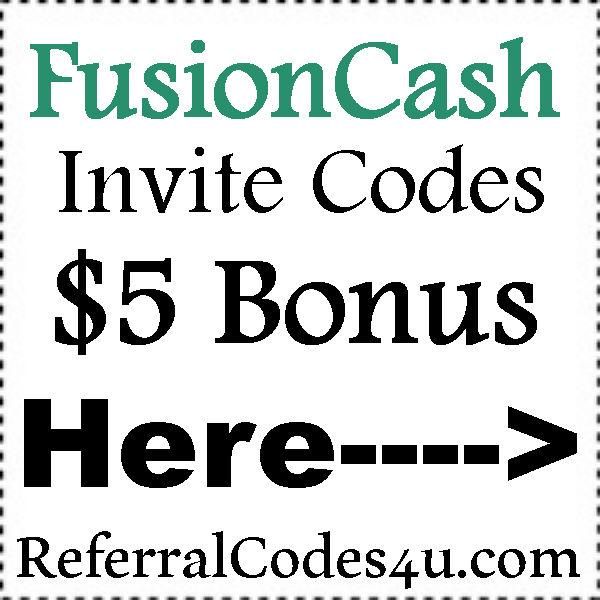 Fusion Cash Referral Codes 2016-2021, FusionCash App Reviews, FusionCash Bonus