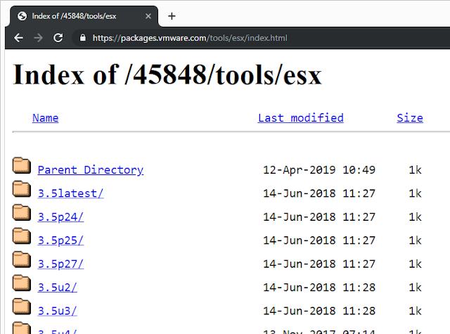 Descargar VMware tools - todas las versiones