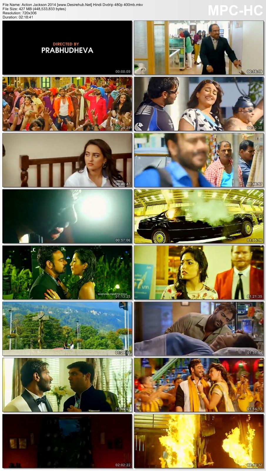 Action Jackson 2014 Hindi DVDRip 480p ESub – 400MB Desirehub