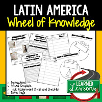 Latin America Activity, World Geography Activity, World Geography Interactive Notebook, World Geography Wheel of Knowledge (Interactive Notebook)