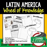 Latin America Activity, World Geography Activity, World Geography Interactive Notebook, World Geography Wheel of Knowledge (Interactive Notebook)