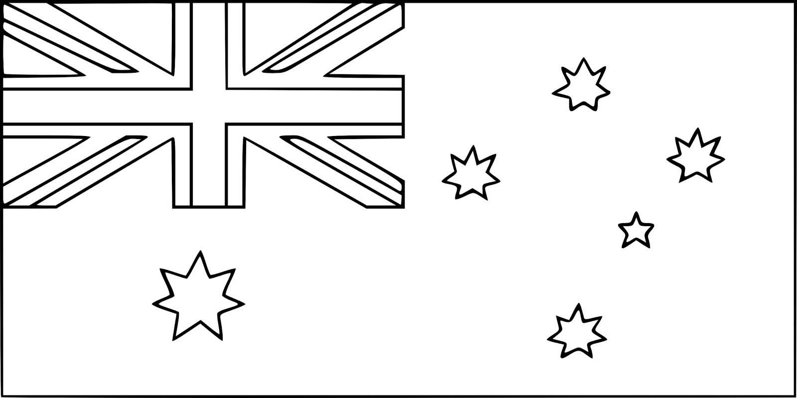 Geography Blog: Australian flag coloring page