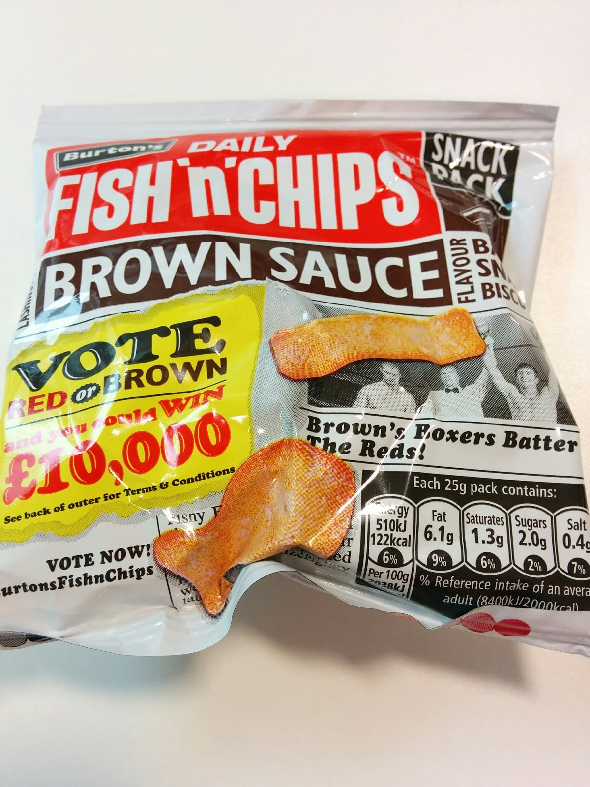 The excited eater burtons fish and chips brown sauce review for Fish and chips sauce