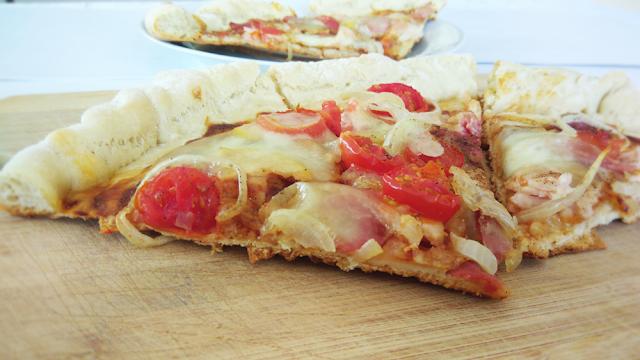 pizza, fit, szybka, przepis