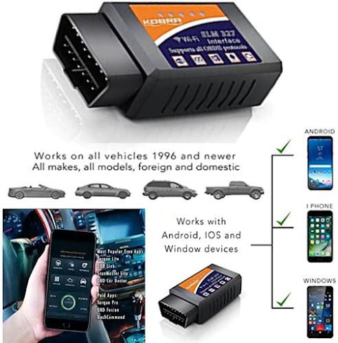 Kobra OBDII Vehicle Scanner - Wireless Engine-Code Reader Car Scanning Tool