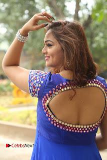Actress Ashwini Stills in Blue Chudidar at Ameerpet Lo Release Press Meet  0083.JPG