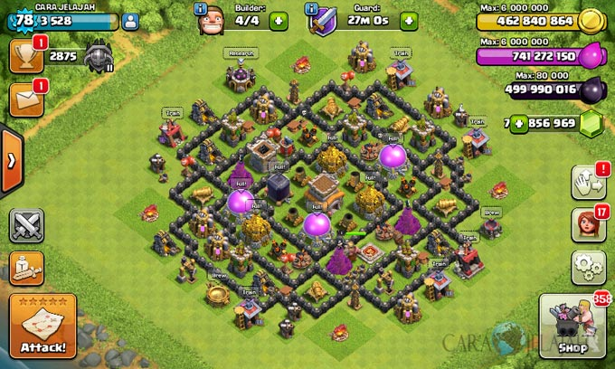 Susunan Formasi Base War TH 8 Update Terbaru 16