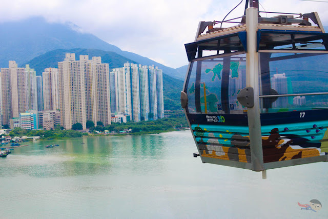 Cable Car Journey to Ngong Ping, Hong Kong