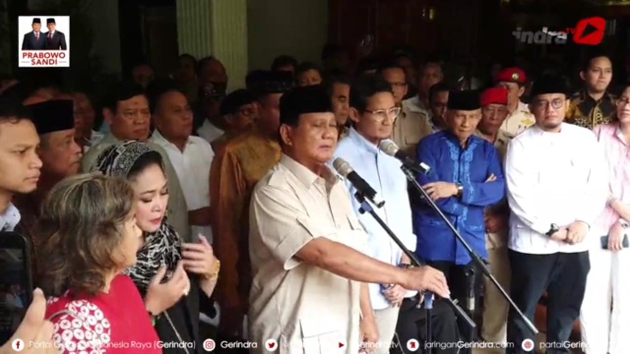 Sikapi Pengumuman KPU, Ini Upaya Hukum Prabowo dan Wasiat untuk Relawan