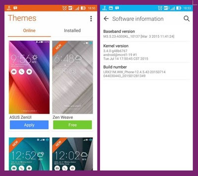 Kali ini admin akan share update firmware untuk ponsel Zenfone  Full Firmware Zenfone 5+ LTE A5+00KL (WW) v12+.4.5+.42