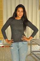 Actress Bhanu Tripathri Pos in Ripped Jeans at Iddari Madhya 18 Movie Pressmeet  0053.JPG