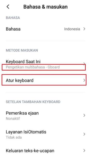 cara mengubah keyboard xioami menjadi korea