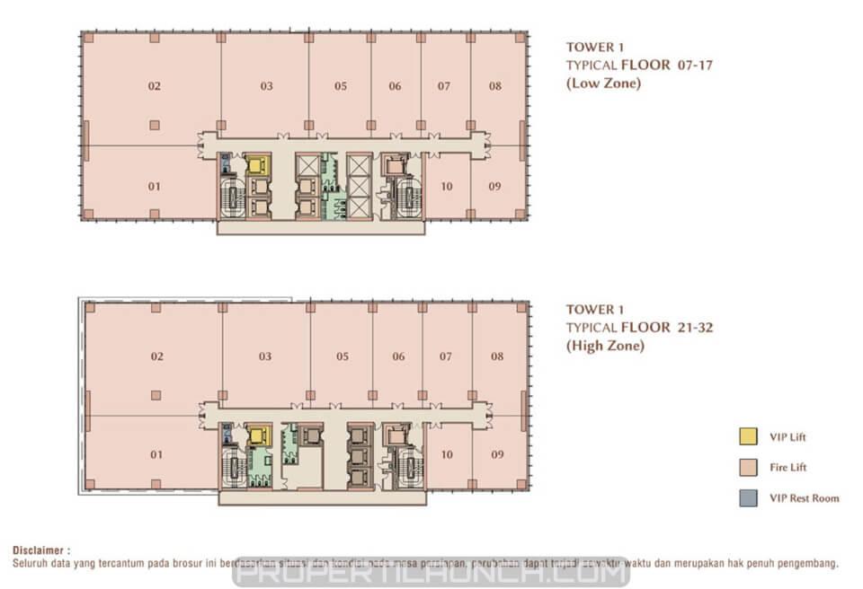 Serpong M-Town Office tower site plan