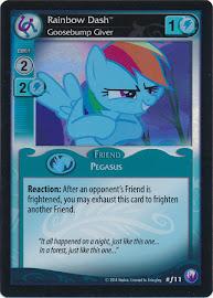 My Little Pony Rainbow Dash, Goosebump Giver Canterlot Nights CCG Card