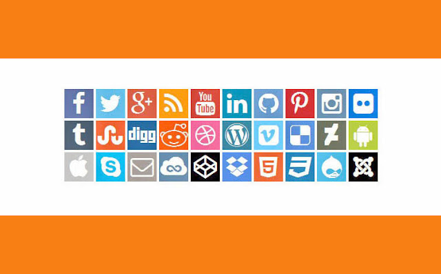 CSS3 Icon Social Network Flat UI dengan Font Awesome