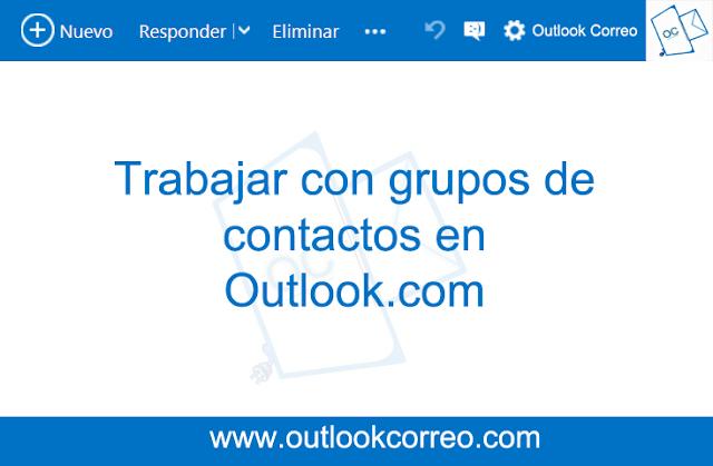 Trabajar con grupos de contactos en Outlook.com