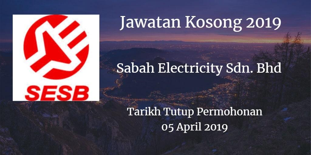 Jawatan Kosong SESB 01 April 2019