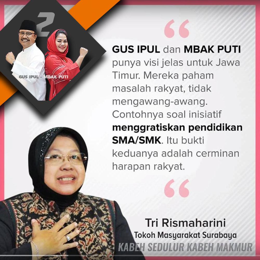Ke Warga Surabaya, Risma: Puti Guntur Soekarno Punya Visi Jelas