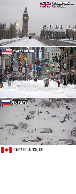 Winter season around the world-Funny Memes