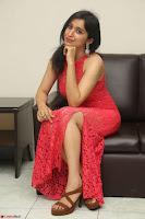 Sakshi Kakkar in Red Legsplit Sleeveless Gown at Dare movie Press meet ~  Exclusive 043.JPG