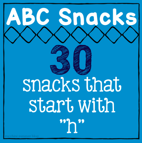 zucchini summer: 30 letter -h- snacks