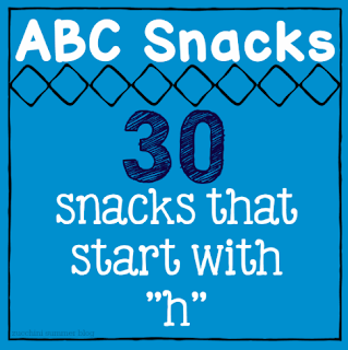 food that starts with letter h, preschool snacks, snacks letter h