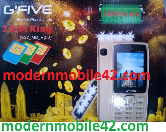 gfive 3sim king flash file