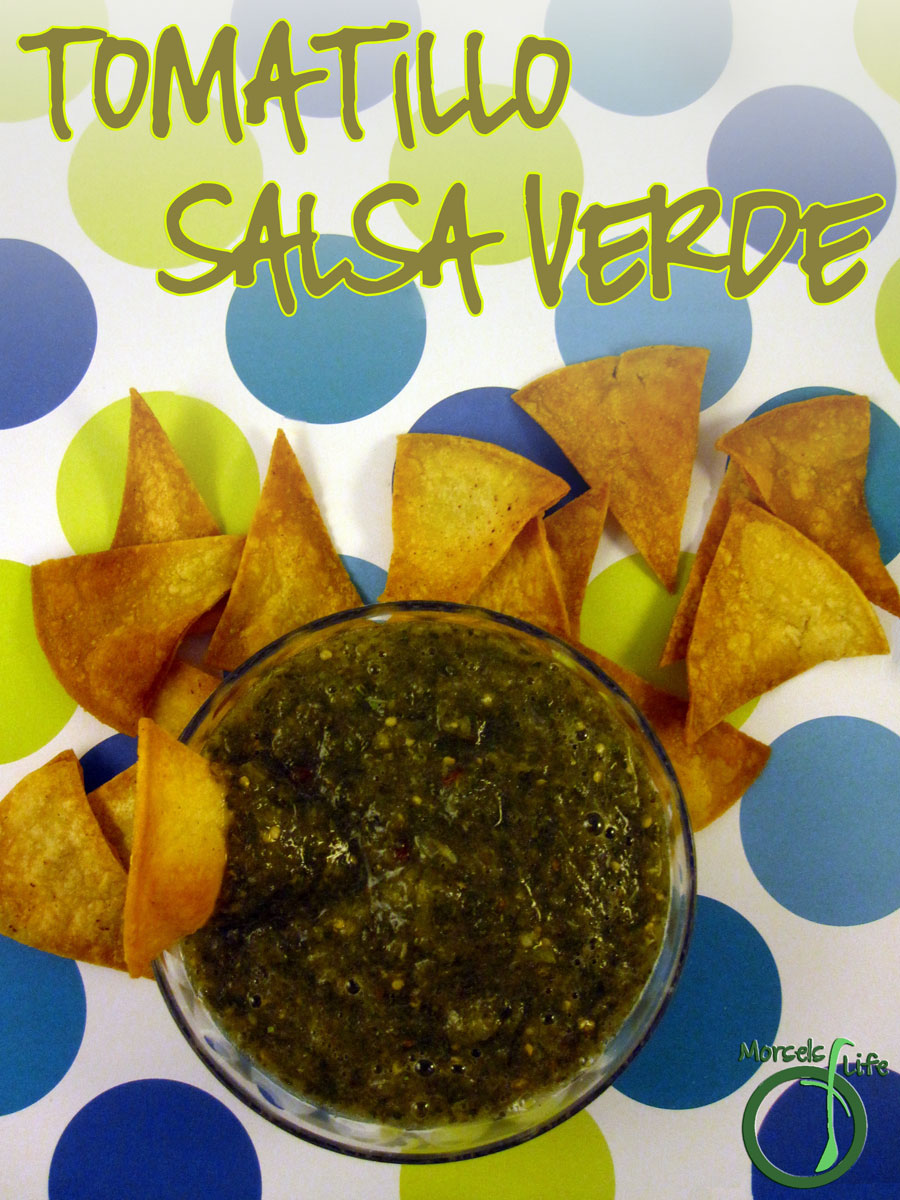 Morsels of Life - Tomatillo Salsa Verde - Bright and fresh, try this zesty tomatillo salsa verde on some enchiladas, burritos, or even simply tortilla chips!