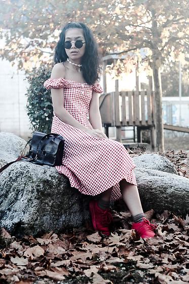 vestido estampa vichy
