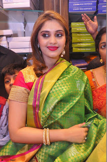 Surabhi looks stunning in Saree at Nakshatra Fashion Store Launch at Suchitra X Road 14.JPG
