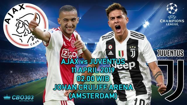 Prediksi Tepat Liga Champions Ajax vs Juventus (11 April 2019)