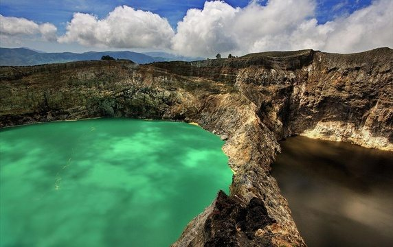 Kelimutu crater lakes in Flores Island in Indonesia