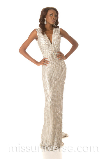 493ca9188ff5 Miss Haiti Christela Jacques: This is a very elegant column gown and looks  fabulous on Christela. The beading looks intricate and expensive, the  v-neckline ...