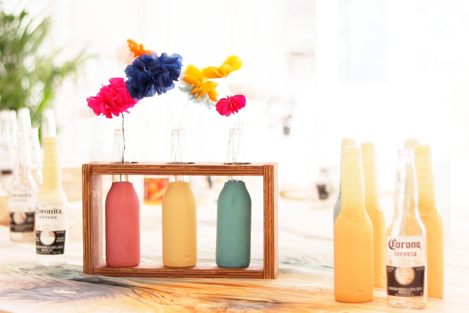 DIY: florero de madera y botellas recicladas - Handbox Craft Lovers ...