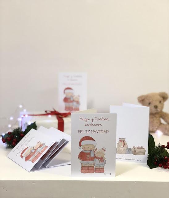 Postales-navidad-personalizadas-Hugo y Carlota
