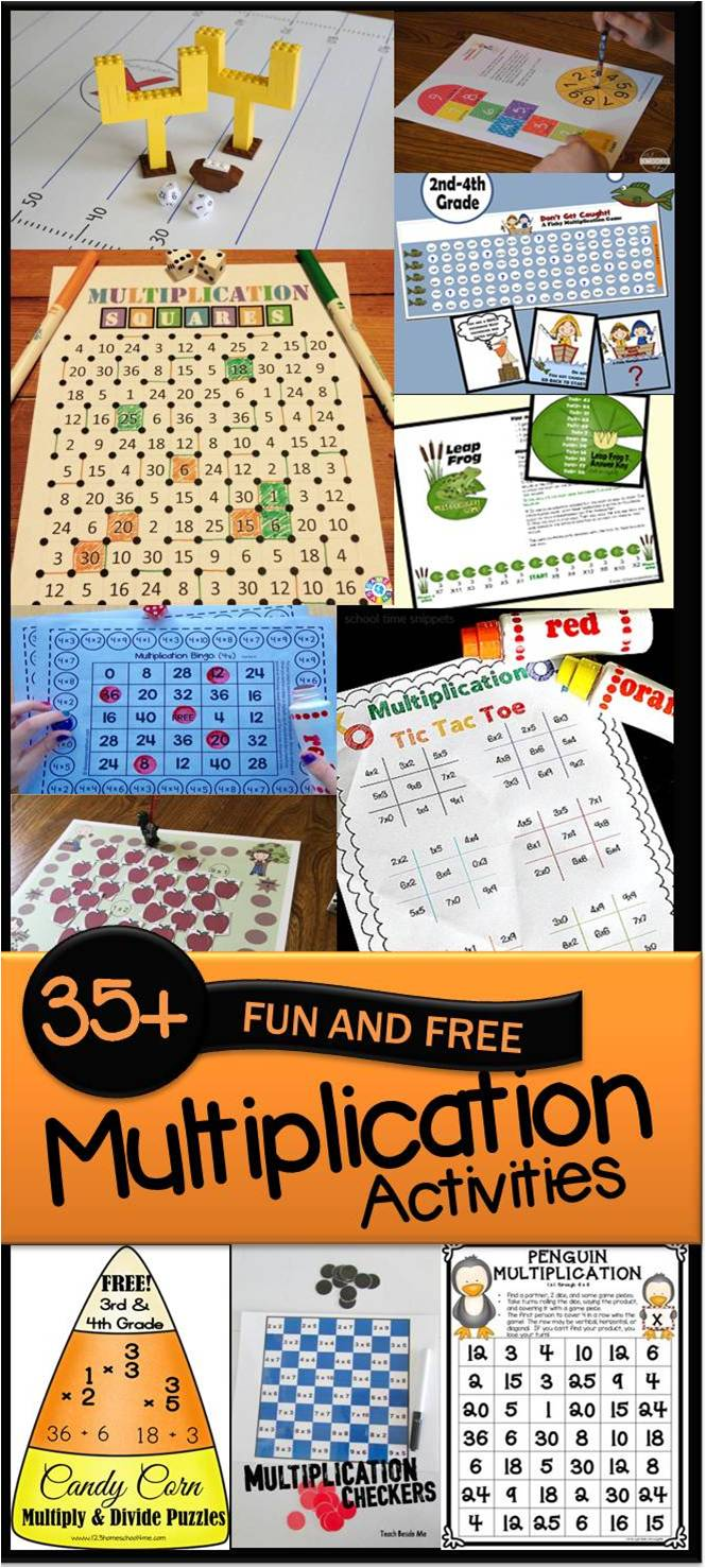 35 FUN & FREE Multiplication Activities